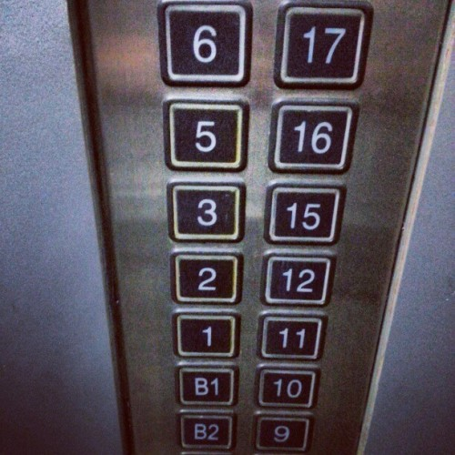 """Tetraphobia: a practice to avoid instances of the number 4. It is a superstition most common in East Asian and Southeast Asian regions. n Cantonese-speaking regions in China, 14 and 24 are considered more unlucky than the individual 4, since 14 sounds like ""will certainly die"" (實死) and 24 like ""easy to die"" (易死). Where East Asian and Western cultures blend, such as in Hong Kong and Singapore, it is possible in some buildings that both 13 and 14 are skipped as floor numbers along with all the other 4's. This is the building I work at. The main elevators show every floor on the buttons but you cannot access them. Here I have found the service elevator to prove there are no such floors."" Loved this cultural curiosity from my friend's travels abroad. In numerology, 13 reduces down to 4 (1+3). For this reason, many feng shui consultants advise against these numbers when buildings are being outfitted. It is not uncommon to see these numbers skipped on addresses as well."