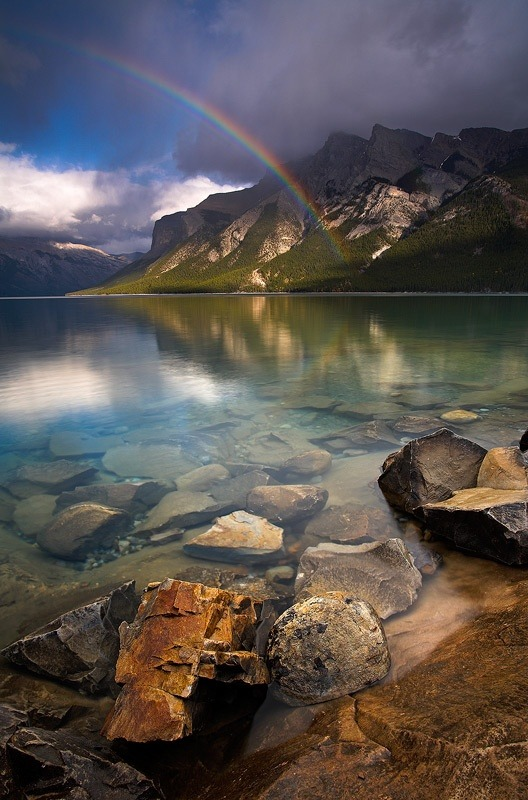 beautiful-world-out-there:  Minnewanka Moments Lake Minnewanks, Banff National Park, Canada