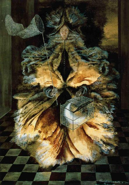 luna-loba:  Cazadora de Astrosby Remedios Varo. One of my favorite paintings by my favorite artist.
