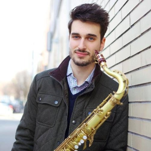tswiftissweeterthanfiction:  This is Taylor's saxo player, his name is Chad and yeah he's hot *heart eyes*