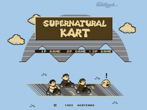 You've still got 8 hours left to buy a copy of my 'Supernatural Kart' T-shirt design from Limiteed.com if you haven't got one already, and don't forget that you can vote for some of my other designs to be printed there as well!