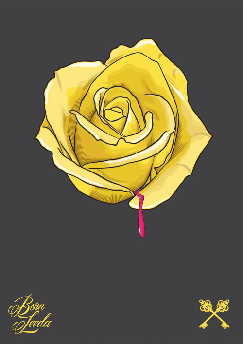 Rose Illustration By Born Leeda. http://www.bornleeda.com/illustration-portfolio