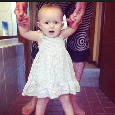 Awwwwww @haymesaunders I'm so pleased Lula loves her #vintage #dress from Auntie Dawson xx