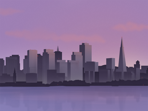 thomasdanthony:  Sunrise - San francisco Skyline