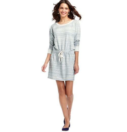 "jaclynday:  This LOFT space dye cotton dress is the perfect summer weekend dress and it's marked down even further—to $34.88 (from $60). Best of all? You get an additional 40% off at checkout, bringing the grand total to a whopping $20.93. Sizes S, M and L still available.   I was thisclose to saying ""to hell with it!"" and clicking 'buy' on this adorable and affordable dress.And then I remembered I'm going to be nursing a baby for the foreseeable future and this dress is certainly not conducive to that particular activity and so I sadly clicked off the page.Dear adorable dress, I hope we meet again someday when my boobs are my own again."