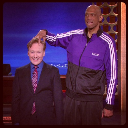 teamcoco:  Kareem Abdul Jabbar was here this week. #CONAN  (at Warner Bros Stage 15)  LUV