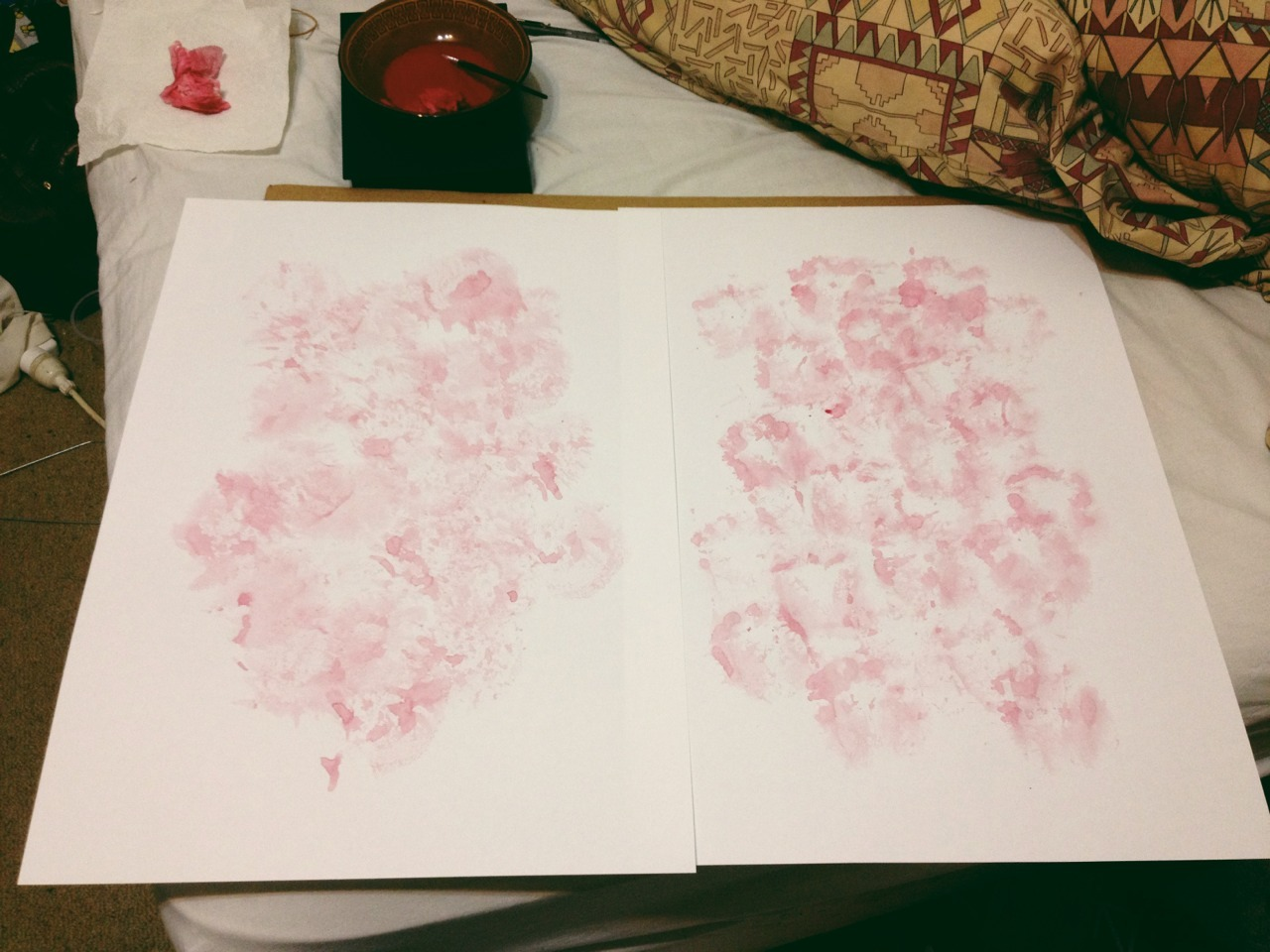 Making body prints for current series on intimacy. Can't decide if I want to sign/date the bottom or not.