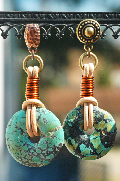 Turquoise & Leather EarringsCheck out the different studs on these earrings! I can use these or my standard earwires…your choice! Purchase here