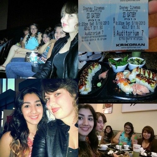 Yesterday was so much fun! Sushi & The Great Gatsby♥