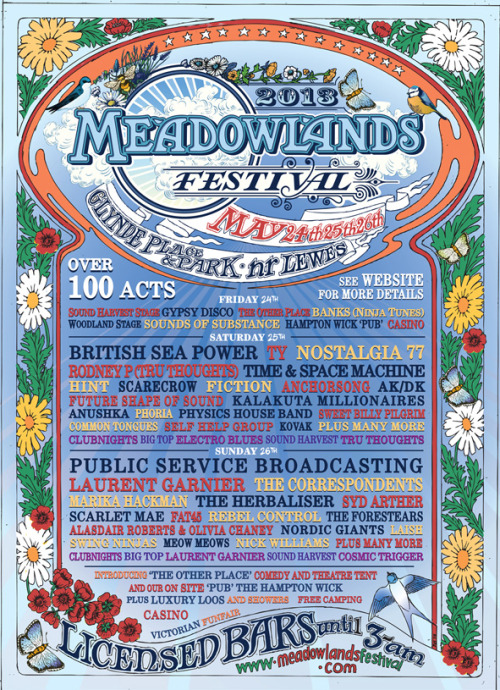 We're playing LIVE on May 26th at this lovely boutique festival in Sussex. Plus they spelt our name correctly on this poster..