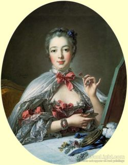 Madame de Pompadour at her Dressing Table. 1758 Artist:  Boucher, Francois / François (French 1703-1770)