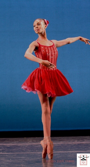 "blackballerinas:  DTH Ensemble dancer Ashley Murphy in Balanchine's"" Glinka Pas de Trois"" Classical technique gains you an entrance into the Balanchine style but by no means assures it."