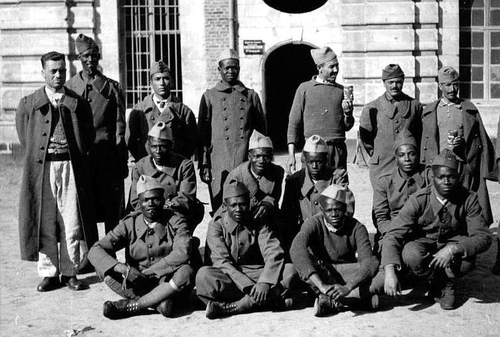 French and British colonial troops photographed after becoming POWs