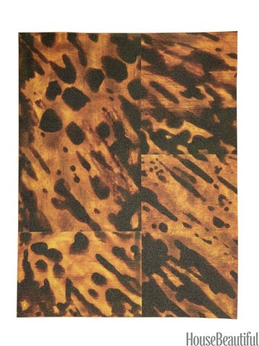 {Faux Tortoise Shell. Vinyl in Natural, by Karen Robertson. casartcoverings.com.}