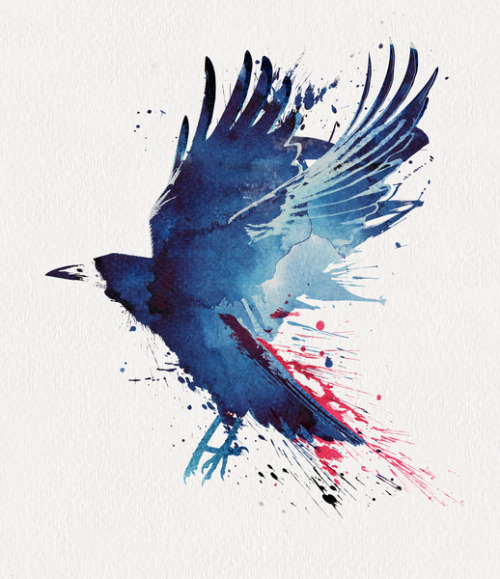 (via Bloody Crow Art Print by Robert Farkas | Society6)