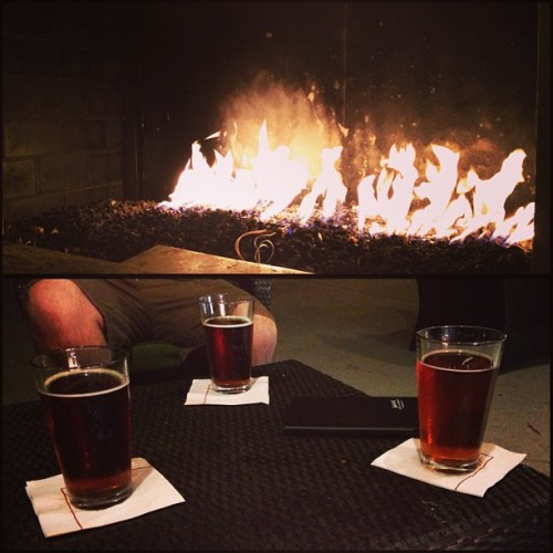 A warm fire, beers, and good company. 🔥🍻❤ @japychan @dat04wrx @welltal89