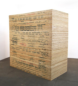 magnificentruin:  Martin Creed Work No. 387: Plywood2004