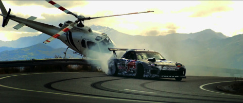 automotivated:  Mad Mike drifting Crown Range in New Zealand.