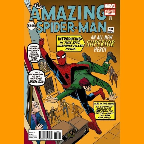 #700 #AmazingSpiderMan #Variant #SteveDitko #SuperiorSpiderMan #SpiderMan… Nervous…