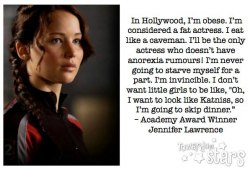 karenhallion:  lifewithkitty:  mylifewithanorexia:  Jennifer Lawrence - a healthy role model  Love.  Love this girl. Love her.   My ladyboner is so hard for her.