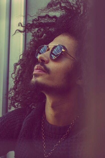 natural curls naturally curly curly hair glasses shades vintage curls fashion menswear mensfashion styles chill chillin afro afro hair view