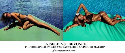 GISELE BUNDCHEN for VOGUE PARIS JUNE/JULY 2012BEYONCE KNOWLES for H&M SUMMER 2013 AD CAMPAIGNPHOTOGRAPHED BY INEZ & VNOODHWWW.GLOSSYNEWSSTAND.COM