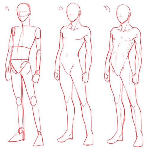 Guida Come disegnare Maschi Manga Muscolosi
