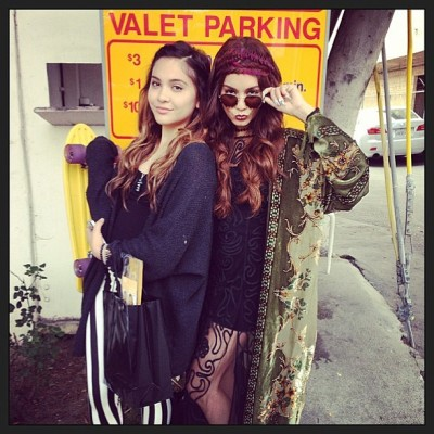 vanessahudgens:  ❤❤👭sisterly braided valet skateboard love. That shit real. 👭❤❤