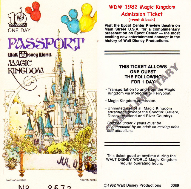 WDW 1982 MK ticket by UFG8R on Flickr.