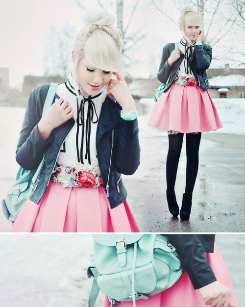 lookbookdotnu:  Sugary smell of springtime. (by Kerti P.)