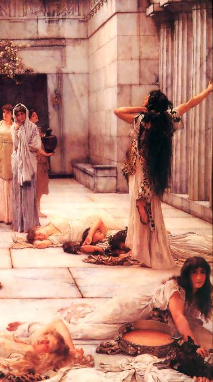 "tierradentro:  ""The Women of Amphissa"" (detail), 1887, Lawrence Alma-Tadema."
