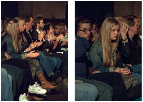 ninaperlman:  Audience Applauding & Blonde Girl, April 2013