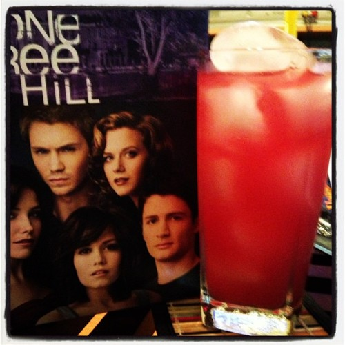 Some of my favorites on a Monday night…Malibu, cranberry, and one tree hill! #drinks #alcohol #onetreehill #oth #love