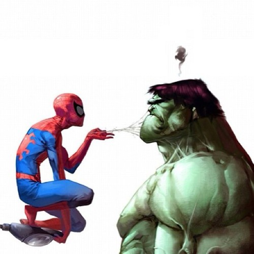 Spider Hulk. My 2 fav comic characters! Join my comic group: https://www.facebook.com/groups/353080661481673/