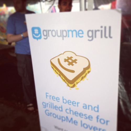Three years running, the GroupMe Grill is still one of the most clever (and popular) marketing swag at South by.  - Jenna Wortham