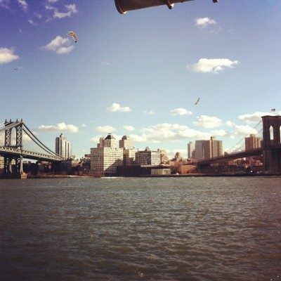 chasewhite:  Beautiful out today #nyc #twobridges