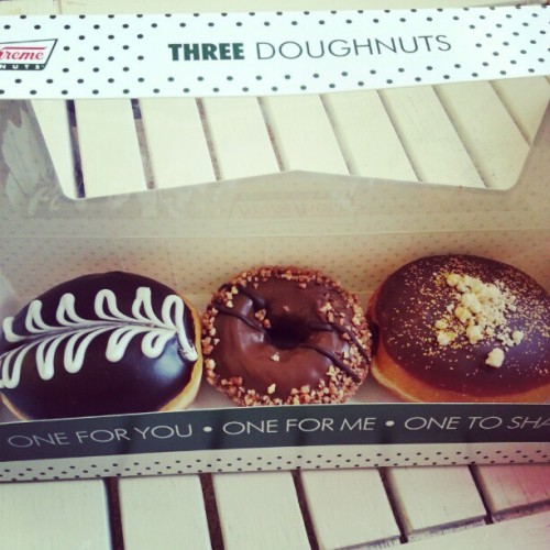 Lunch and dinner sorted! #food #doughnuts #donuts #yummy #chocolate #foodporn #sweets #dessert #krispykreme