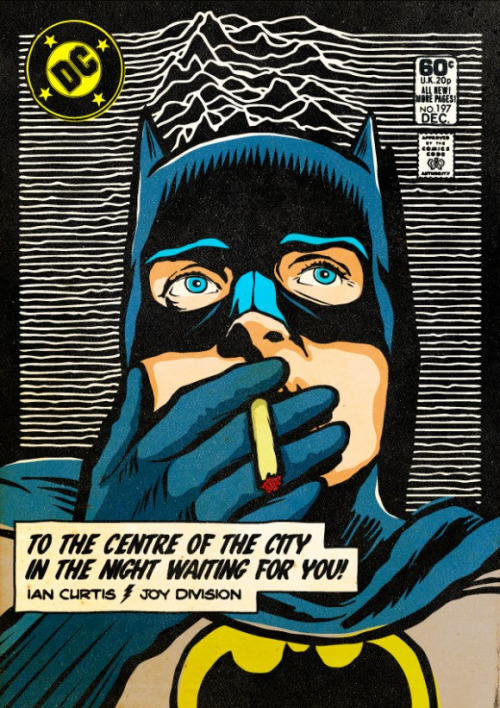 artsofvision:  Ian Curtis as Batman - Shadowplay