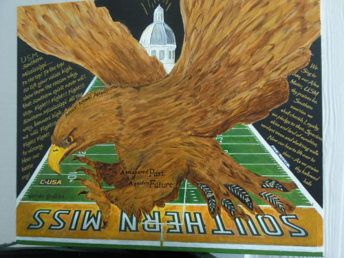 SMTTT!   (Southern Miss To The Top!)      Collage             16 x 20 This collage was a labor of love — I love my school — The University of Southern Mississippi    We are the Golden Eagles and I have included our fight song and our Alma Mater and various other things!