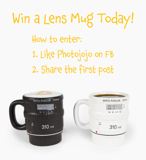 photojojo:  If you had one of our Get into Focus Lens Mugs, what would you drink out of it? Fancy teas? Maybe a mexican hot chocolate. Rice pudding! Whatever it may be, enter to win one today! Just follow the directions above. Get a Chance to Win a Ceramic Lens Mug!