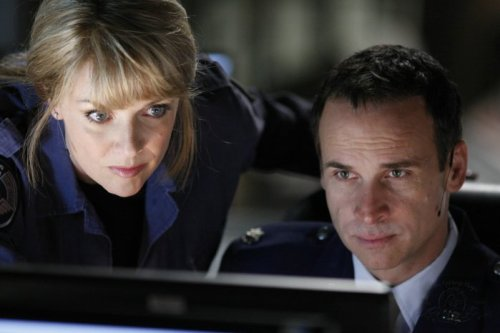 "Col. Samantha Carter and Maj. ""Disaster"" Paul Davis"