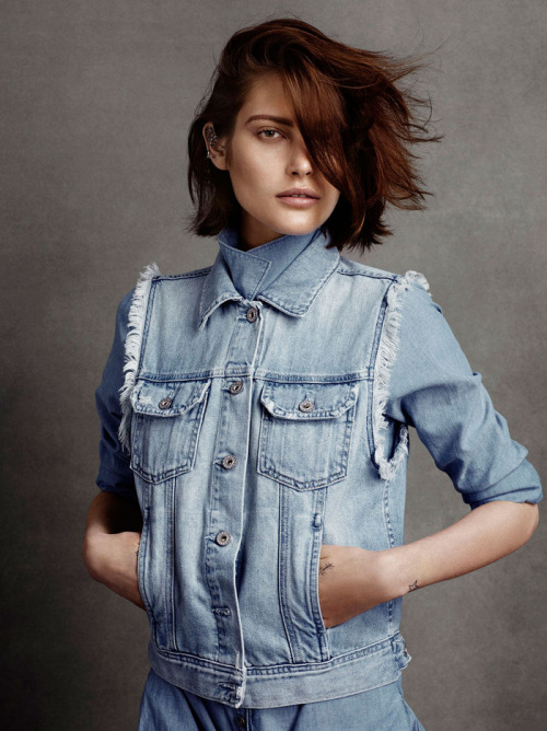 Interesting denim on denim [source: models.com]