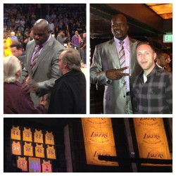 Congrats to one of my alltime favorite Lakers, SHAQ on his jersey retirement ceremony tonight!! @shaq #shaq #shaquilleoneal #lakers #losangeles #lakeshow #thediesel #thebigfella #thebigaristotle #shaqfu #superman #34 #halloffame #nba #lakersfamily #thanksforthememories  (at STAPLES Center)