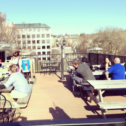 twestivalbtv:  #BTV #Tweetup Wed 5/8 6PM beer garden rooftop (at Das Bierhaus)