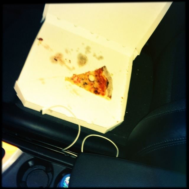 tiny joy #271: finding a slice of pizza in your car after a hard night's work