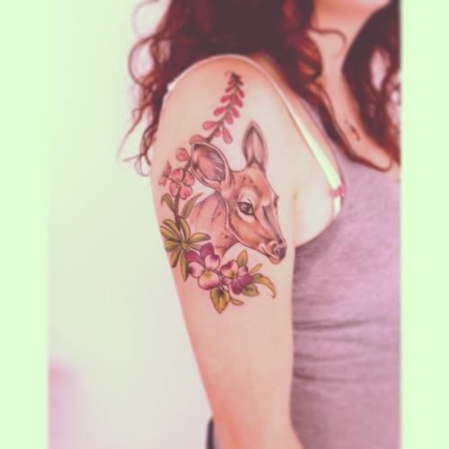 I got a lil deer tattoo <3 awww