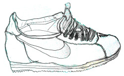 summer time sneaker. drawing brendan garbee