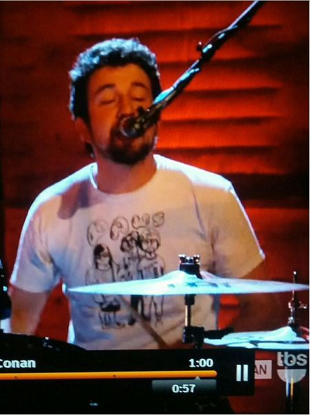 David Prowse of Japandroids, live on The Conan O Brien Show.  We salute you!  x