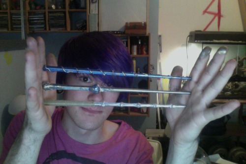 finished making the wands, im actually proud of myself :]