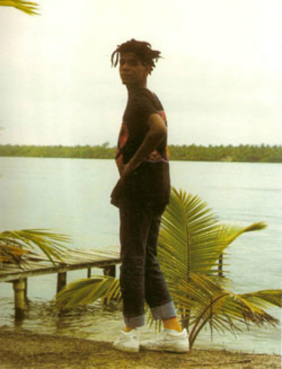 beautone:  Jean-Michel Basquiat in Abidjan 1986 via howtobeterrell
